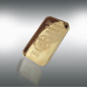 24 kt-guldbarre -100 g.